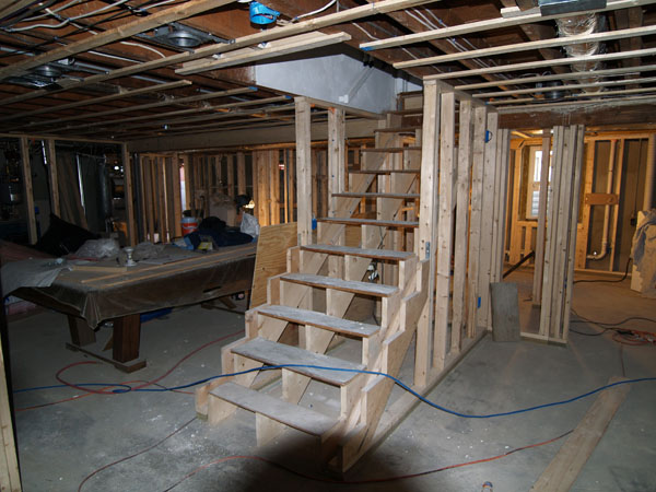 Wakefield, Ma Basement Stairs Remodeling: Wakefield Basement Stairs Before