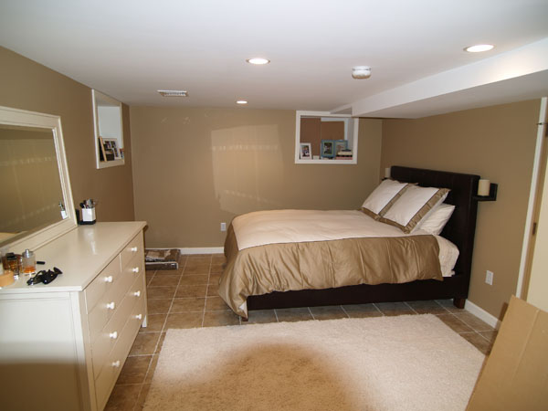 Capozzi construction inc finished basements photo gallery Putting a master bedroom in the basement