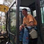 Excavation back hoe